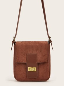 Twist Lock Crossbody Bag