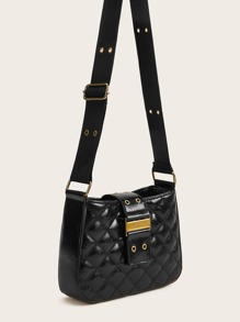 Eyelet Detail Quilted Crossbody Bag