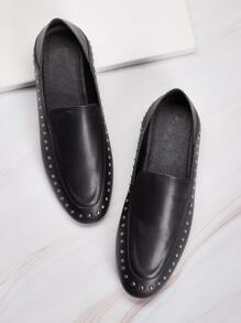 Studded Decor Flat Loafers