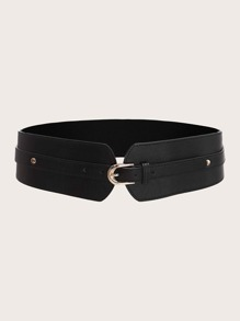 Solid Buckle Corset Belt