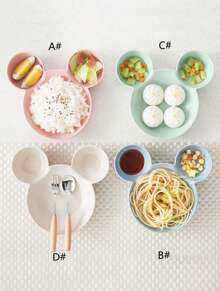 1pc Cute Mouse Shaped Baby Plate