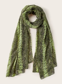 Snakeskin Graphic Scarf