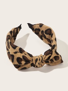 Leopard Pattern Bow Knot Decor Headband