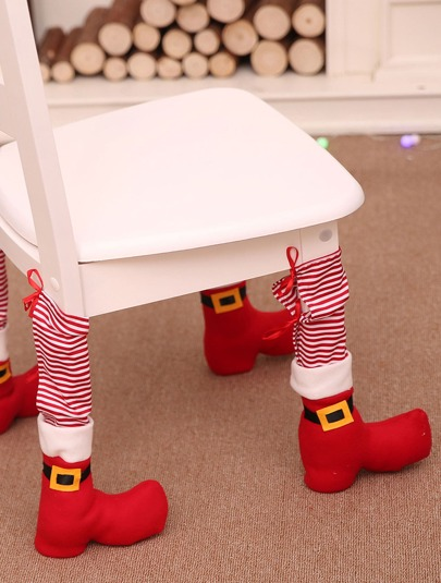 4pcs Christmas Chair Leg Cover
