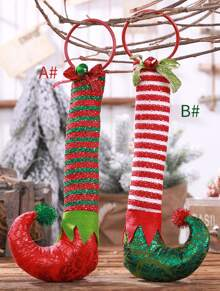 1pc Christmas Stocking Hanging Ornament