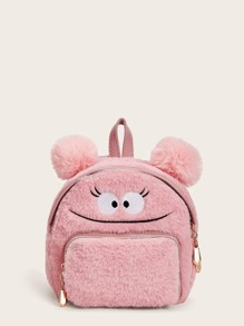Pom Pom Decor Fluffy Backpack