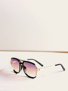 Top Bar Flat Lens Sunglasses