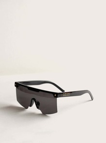 Star Decor Flat Top Sunglasses
