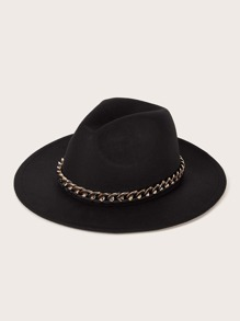 Chain Decor Floppy Hat
