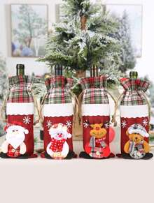 1pc Christmas Wire Bottle Cover