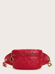 Zip Up Quilted Fanny Pack