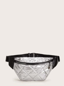 Metallic Quilted Fanny Pack