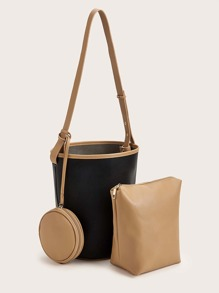 Bucket Bag With Inner Clutch