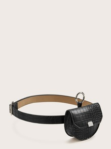 Mini Croc Embossed Fanny Pack