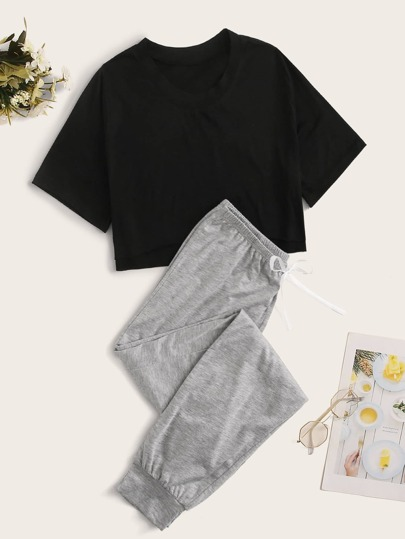Two Tone PJ Set