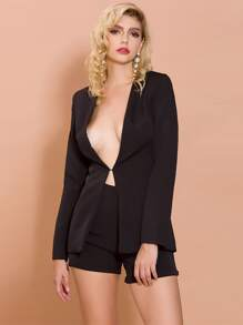 Missord Hook And Eye Blazer & Roll Hem Shorts Set