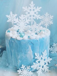 1pc Snowflake Cake Topper