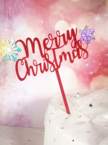 1pc Merry Christmas Cake Topper
