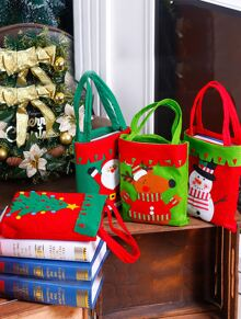 1pc Christmas Cute Candy Bag Ornament