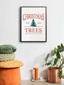 Christmas Tree Wall Print Without Frame