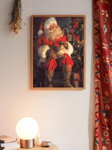 Santa Claus Wall Art Print Without Frame