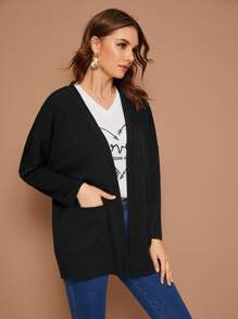 Dual Pocket Drop Shoulder Coat