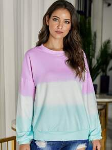 Ombre Drop Shoulder Oversized Sweatshirt