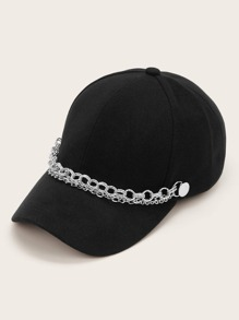 Chain Decor Baseball Cap