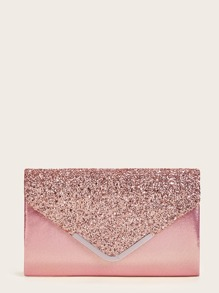 Sequin Panel Chain Clutch