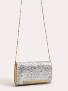 Sequin Pave Chain Clutch