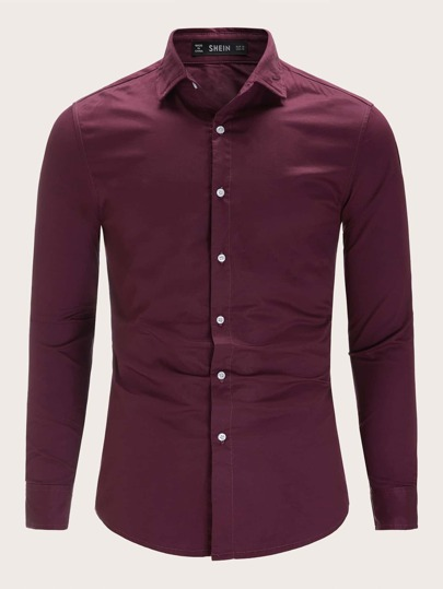 Camicia da uomo con bottone up