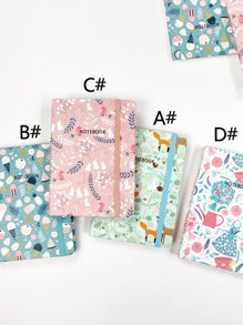 1pc Cartoon Graphic Cover Notebook