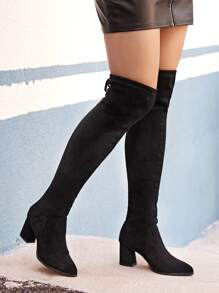 Tie Back Chunky Boots