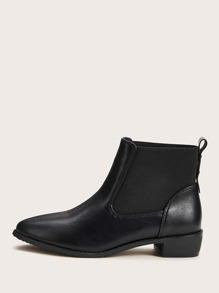 Point Toe Chelsea Boots