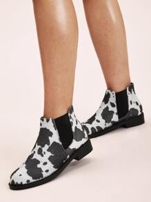 Graphic Chelsea Boots