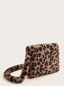 Fluffy Leopard Tote Bag