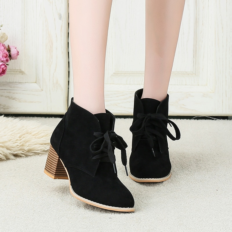 Чёрный Деловый стиль  Осенняя/зимняя обувь