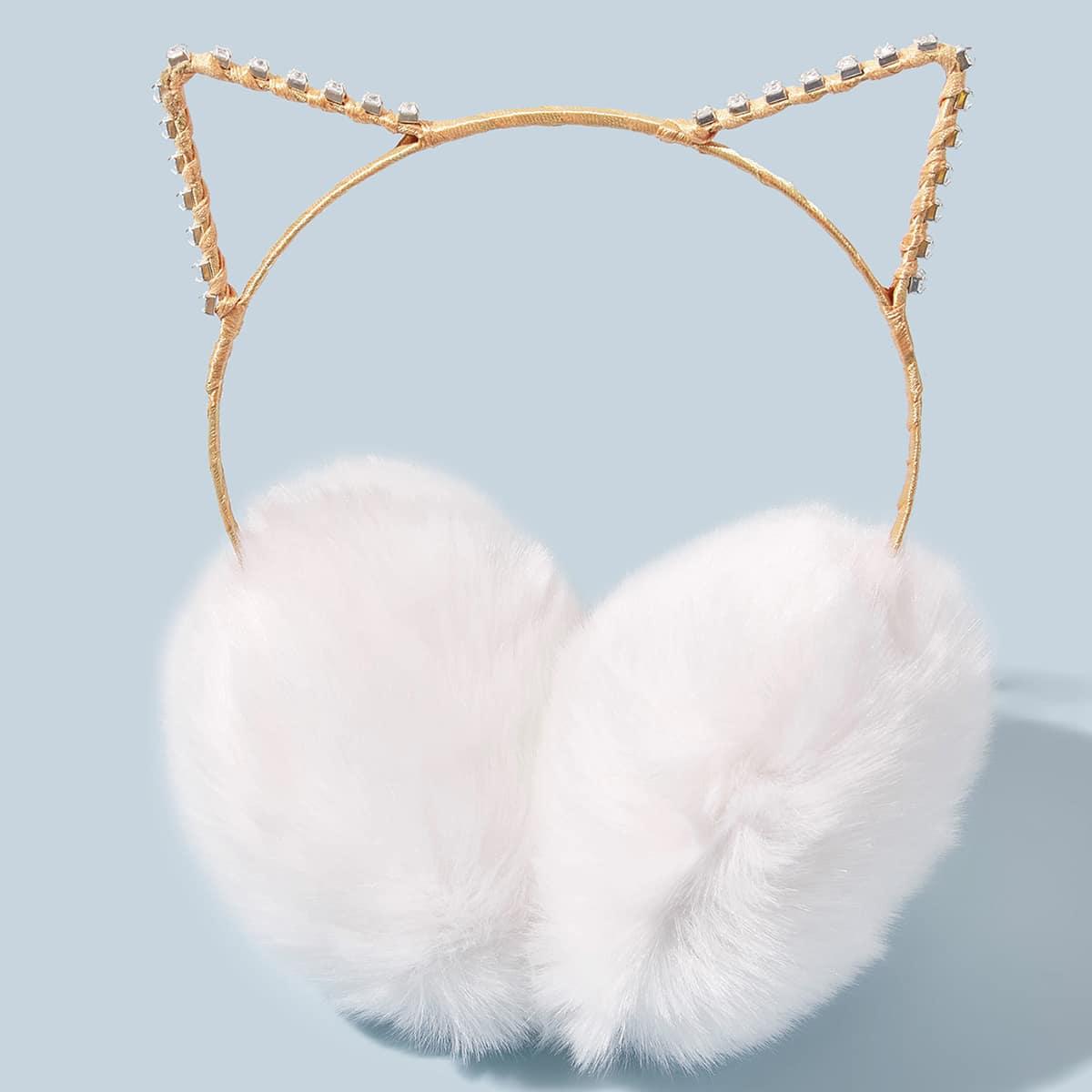 Плюшевые наушники в форме уха кота