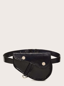 Textured Flap Fanny Pack