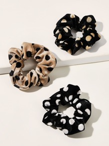 3pcs Polka Dot Pattern Hair Tie