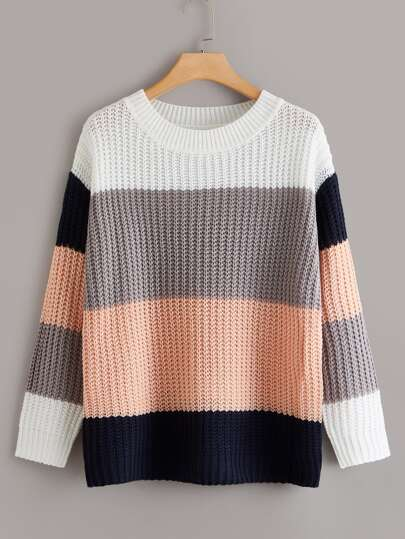 Plus Cut And Sew Drop Shoulder Sweater