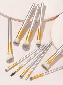10pcs Duo Fiber Makeup Brush Set