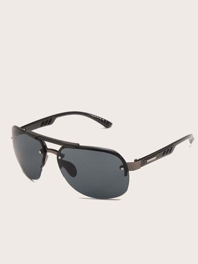 نظارة شمسية بعدسة مسطح وباطار للرجال