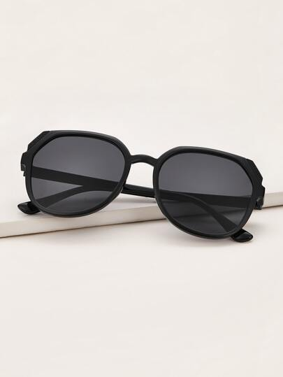 Plain Frame Sunglasses With Case