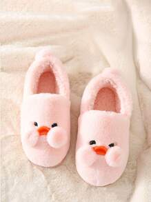Pom-pom Decor Fluffy Slippers