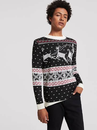 Guys Crew Neck Ugly Jumper