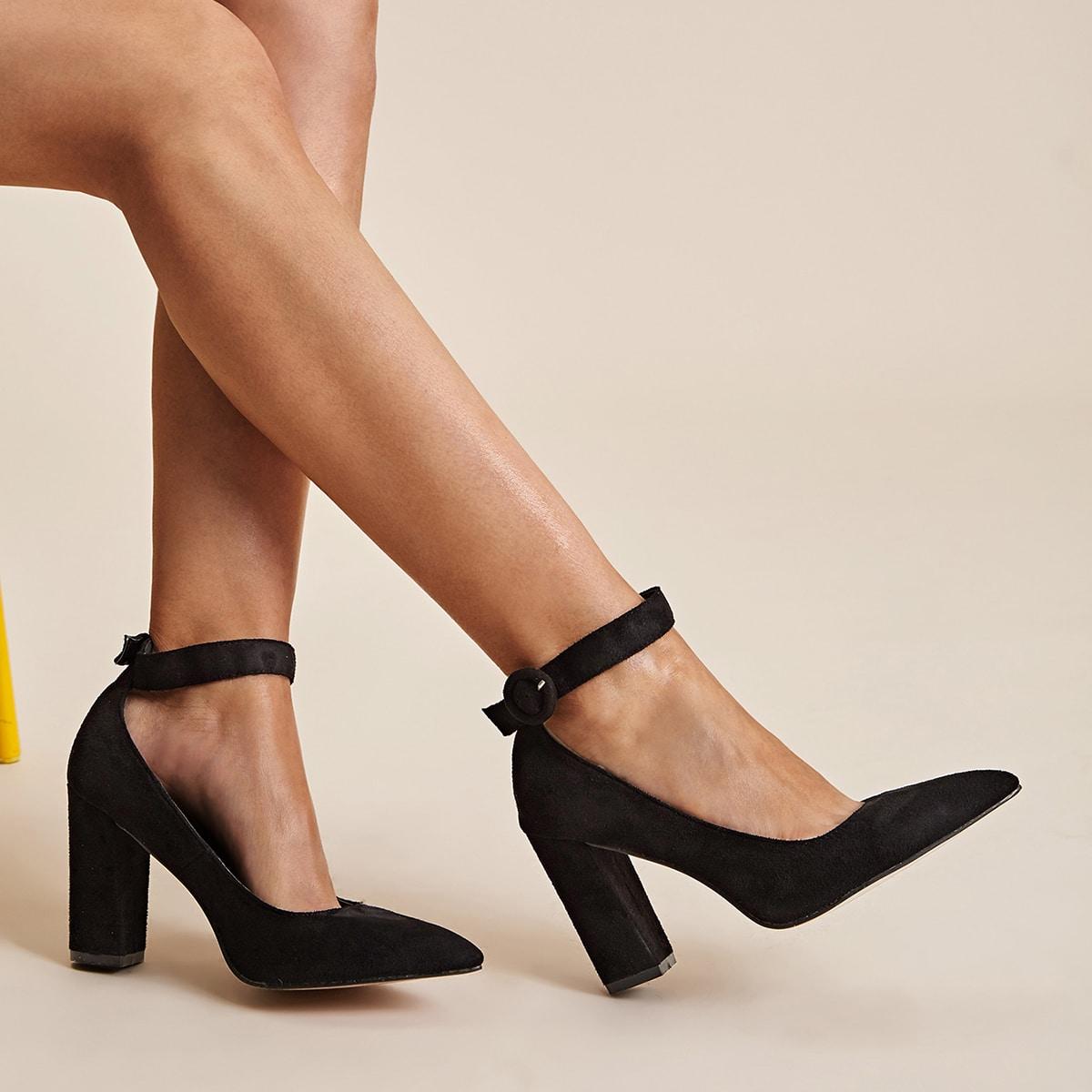 Остроконечные туфли на шпильках с ремешком от SHEIN
