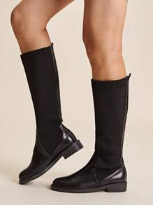 Mid Calf Knitted Sock Boots