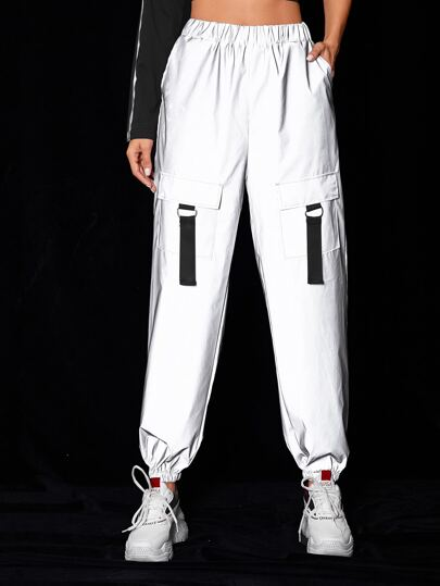Pocket Side Reflective Cargo Pants