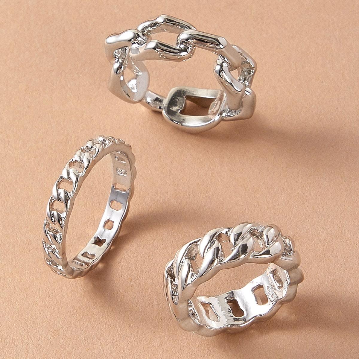 3pcs Link Decor Ring